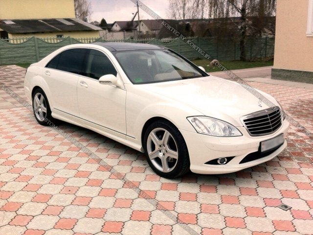 Mercedes W221 Restyling White Long