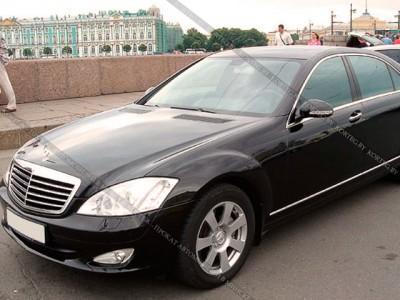 Mercedes S class W221 черный