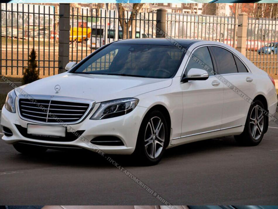 Mercedes S class W222 белый
