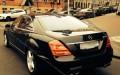 Mercedes S class W221 черный рестайлинг