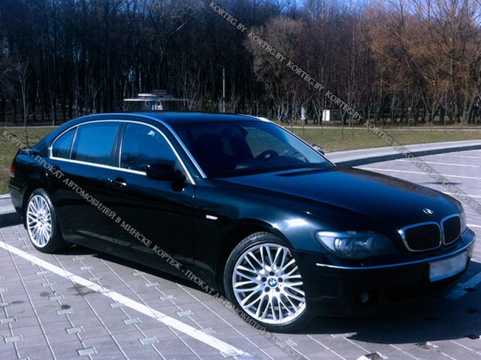 BMW 7 E65 черный рестайлинг