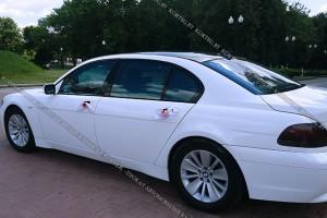 BMW 7 E65 белый рестайлинг
