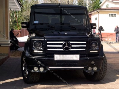 Mercedes G-klass черный #2