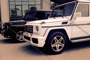 Mercedes G-klass белый