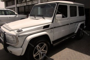 Mercedes G-klass белый #2