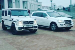 Mercedes GL белый рестайлинг